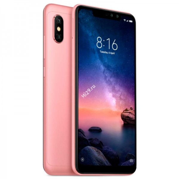 Смартфон Xiaomi Redmi Note 6 Pro 3/32Gb розовый