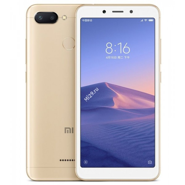 Смартфон Xiaomi Redmi 6 3/64Gb золотой