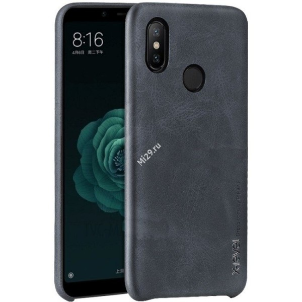 Накладка X-Level Leather Case для Xiaomi Mi8 черная