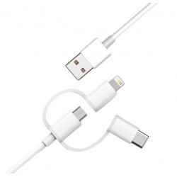 Кабель Xiaomi Star Data Cable 3 in 1 Lightening/Type-C/Micro USB 100 cm белый (MFi)