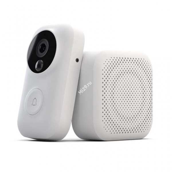 Видеозвонок Xiaomi Zero Smart Doorbell белый дверной