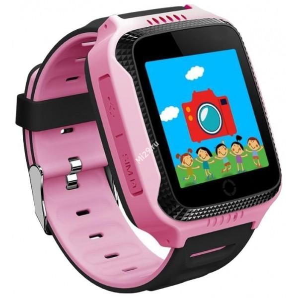 Детские часы Smart Baby Watch Q528 розовые с черным