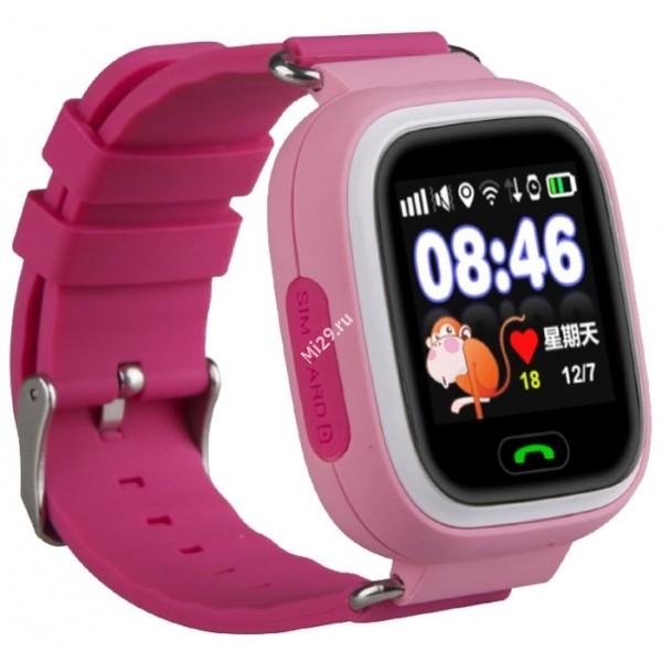 Детские часы Smart Baby Watch Q80 розовые
