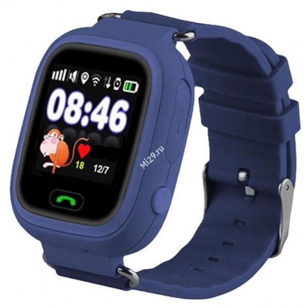 Детские часы Smart Baby Watch Q80 тёмно–синие