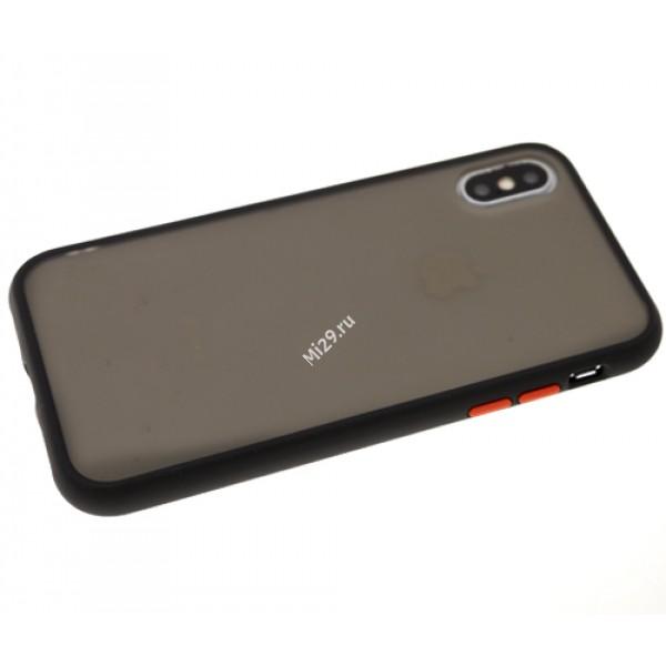 Чехол силиконовый противоударный Redmi Note 9 черный