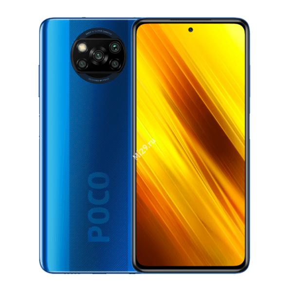 Смартфон Poco X3 NFC 6/128Gb голубой