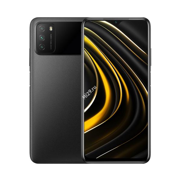 Смартфон Poco M3 4/128Gb черный
