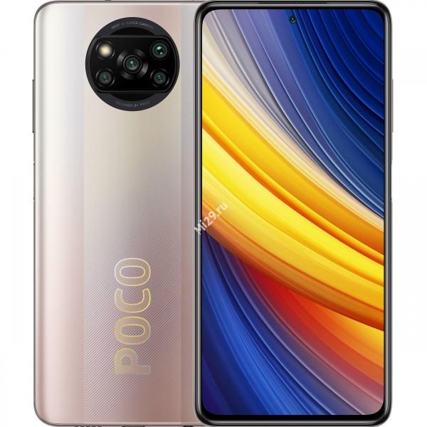 Смартфон Poco X3 Pro 6/128Gb сверкающая бронза