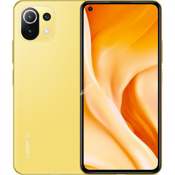 Смартфон Xiaomi Mi 11 Lite 5G 8/128Gb цитрусовый жёлтый